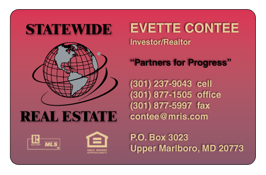 Evette C., Investor/Realtor, Statewide Real Estate, Maryland