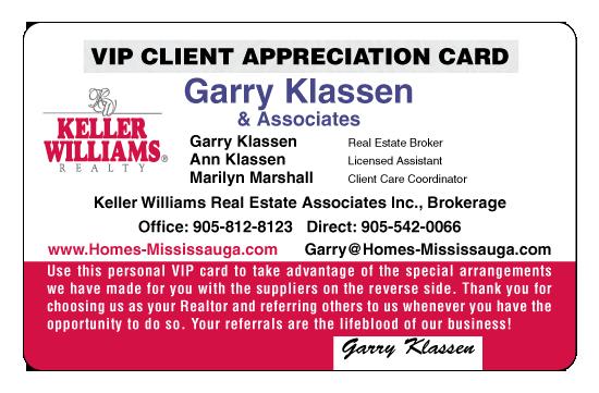 Garry Klassen VIP card