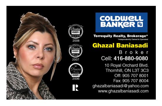 Ghazal Baniasadi – Coldwell