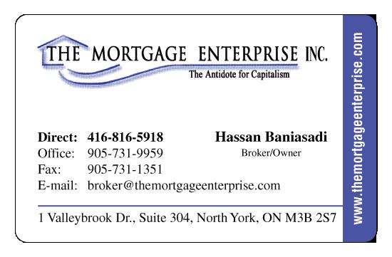 Hassan Baniasadi – The Mortgage Enterprise