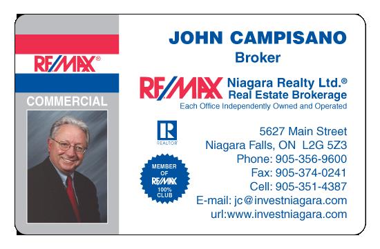 John C., Broker, RE/MAX, Niagara