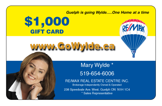 Mary Wylde – ReMax Gift Card