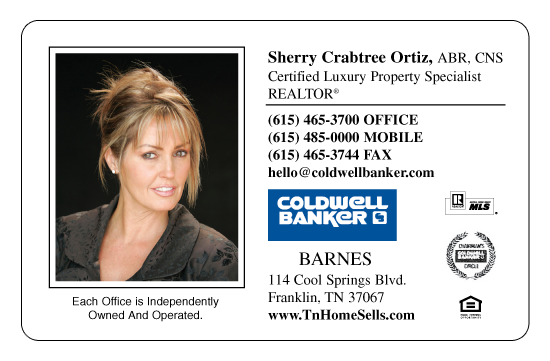 Sherry C. O., Coldwell Banker Barnes, Franklin, Tennessee
