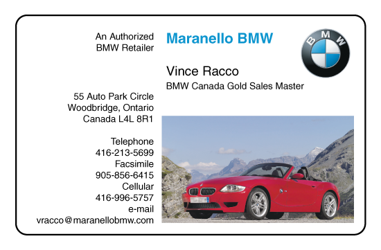 Vince Racco – Maranello BMW